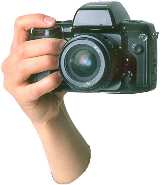 cut-off arm with camera